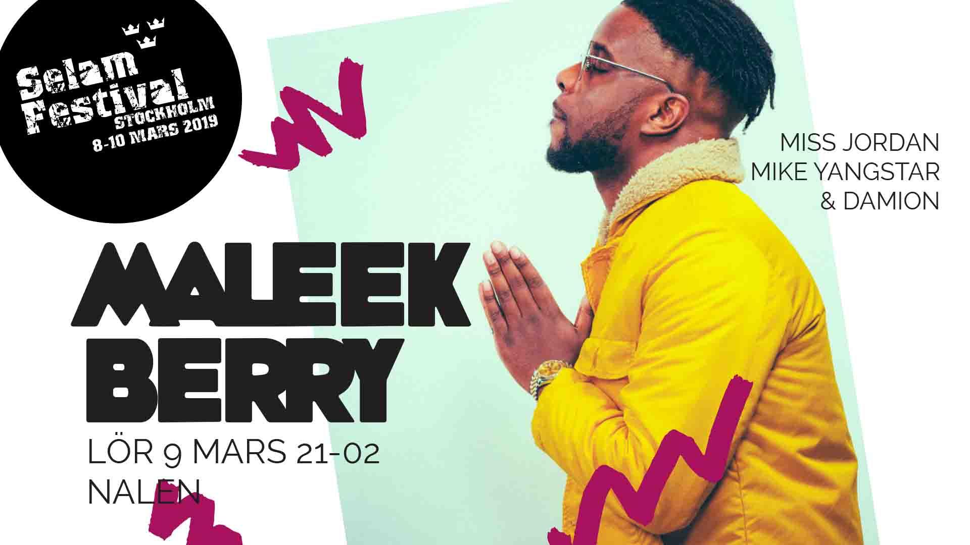 Konsert: Maleek Berry live på Selam Festival Stockholm!
