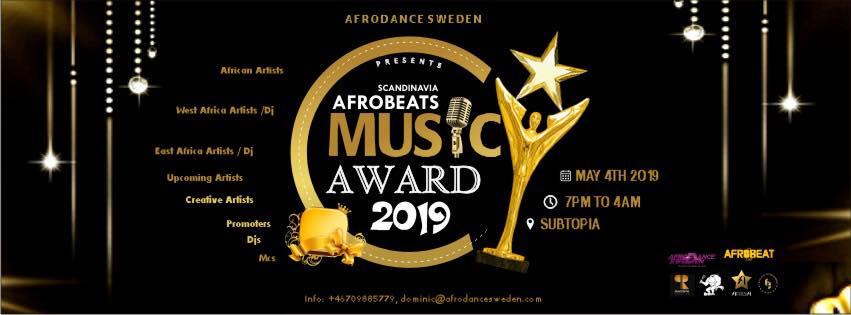 Evenemang: Scandinavian Afrobeats Music Awards 2019