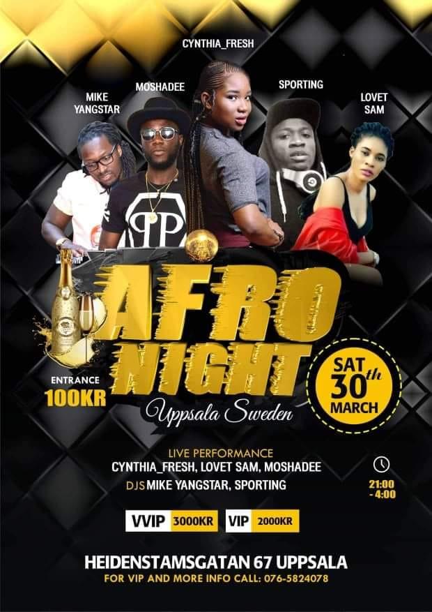 KLUBB: Afro Night Uppsala