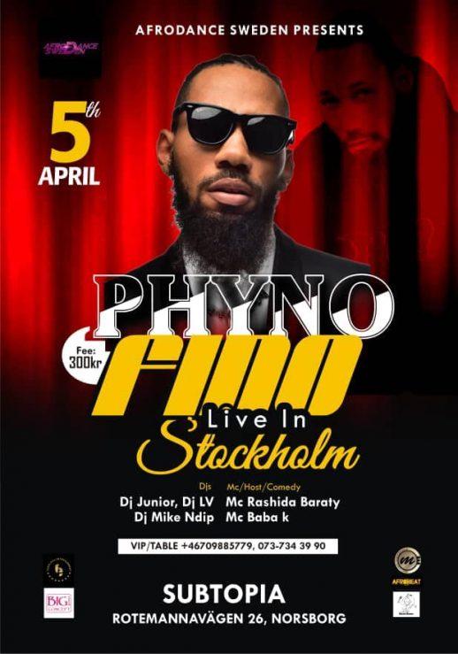 Klubb/Konsert: Phyno live i Stockholm!