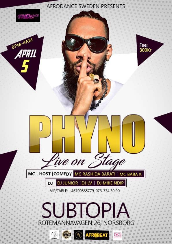 511376d712c Klubb/Konsert: Phyno live i Stockholm! - Africanent.se   Nöjesguiden ...