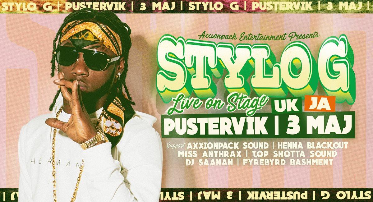Konsert: Stylo G (Jam/UK) Live på Pustervik - Göteborg