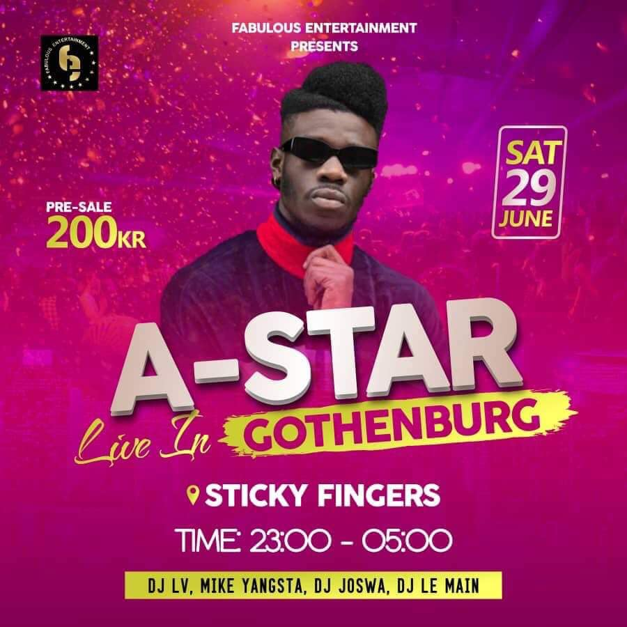 Konsert/Klubb: A-Star Live i Göteborg!