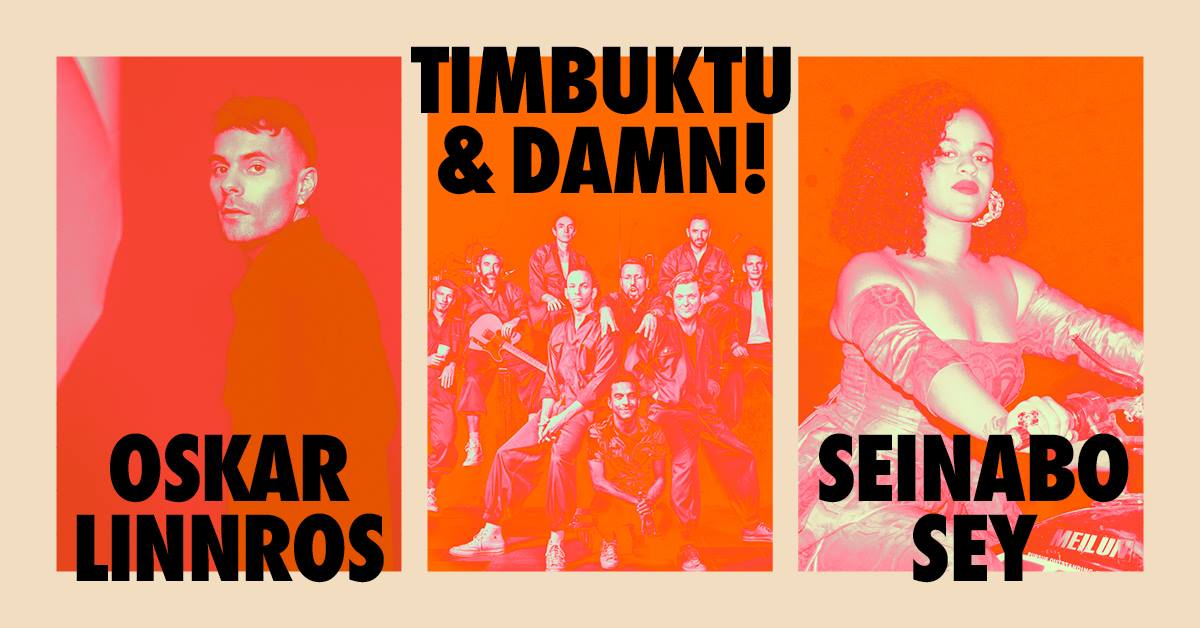 Konsert: Seinabo Sey, Oskar Linnros och Timbuktu & Damn! (Dalhalla)