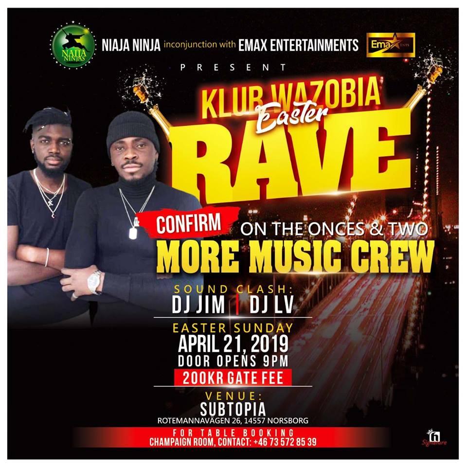 Klubb: Wazoba Easter Rave @ Subtopia!