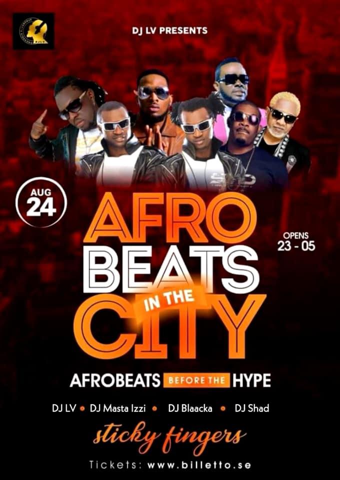KLUBB: Afrobeats in the City! (GÖTEBORG)
