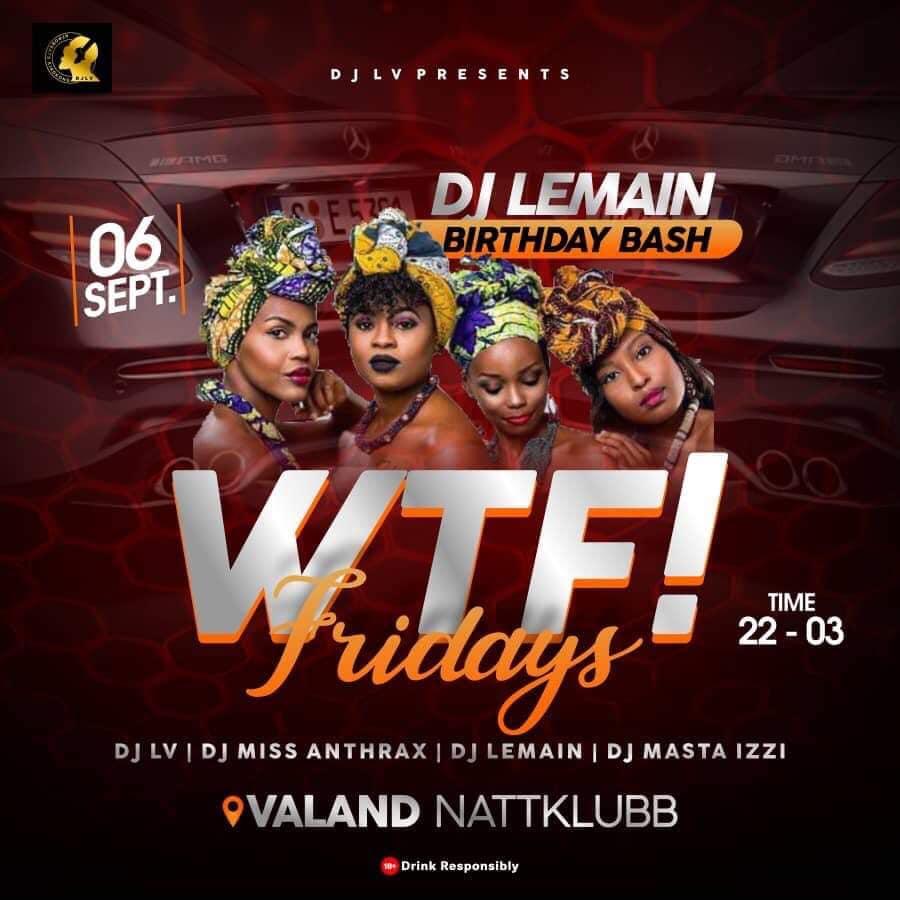 KLUBB: WTF! Fridays (Göteborg)