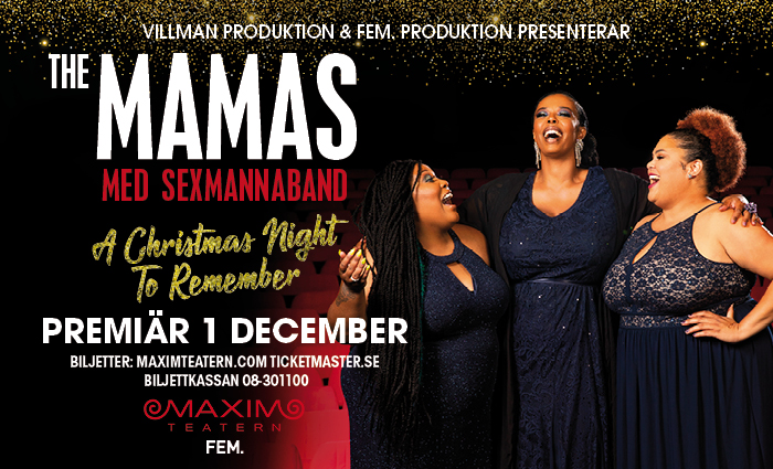 KONSERT: THE MAMAS  A CHRISTMAS NIGHT TO REMEMBER!