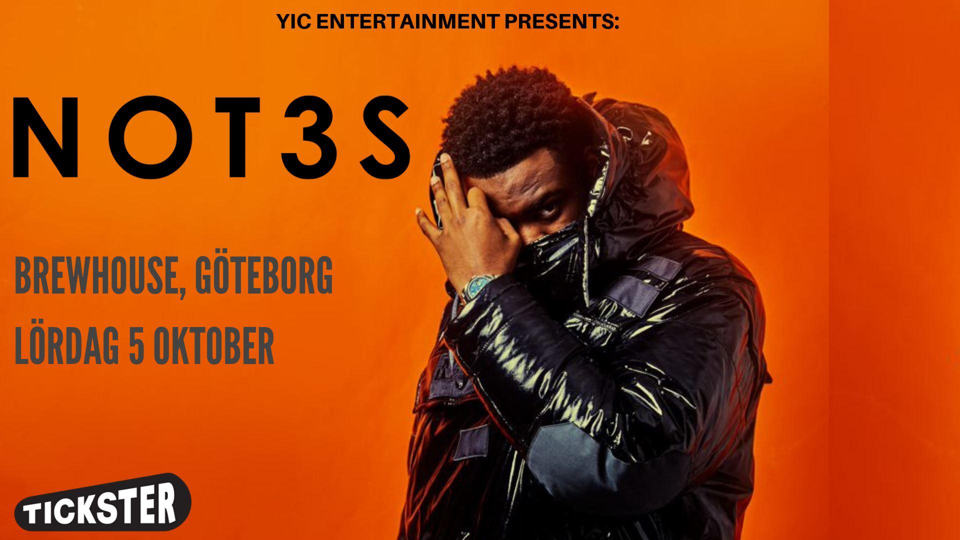KONSERT: NOT3S (UK) LIVE | Brewhouse, Göteborg