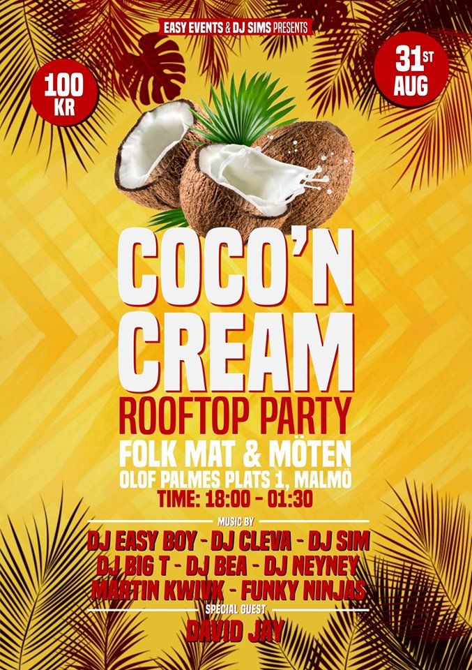 KLUBB: Coco'n Cream Rooftop Party! (Malmö)
