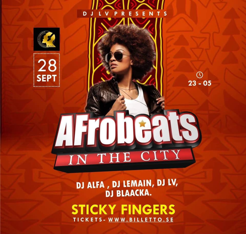 KLUBB: Afrobeats In The City (GÖTEBORG!)