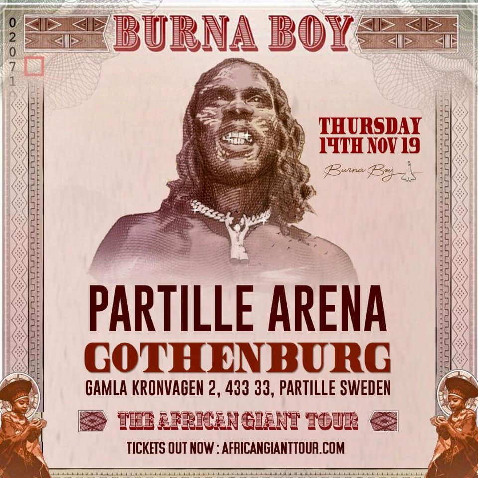 KONSERT: Burna Boy - African Giant Tour Sweden (GÖTEBORG!)