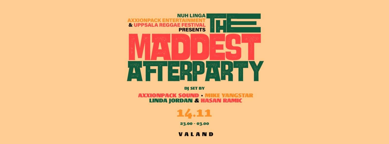 KLUBB: The Maddest Afterparty - Valand nattklubb - GÖTEBORG