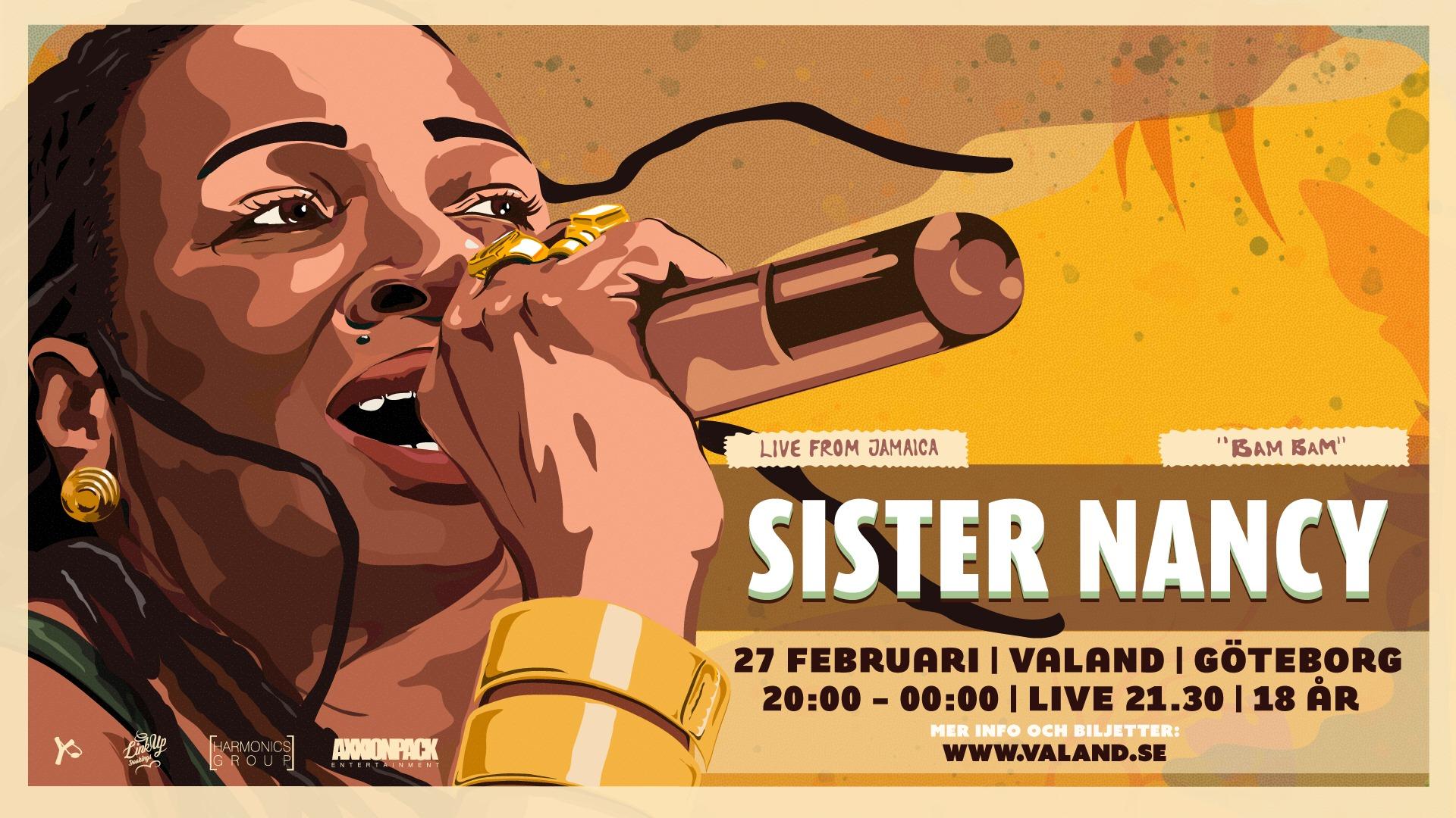 Klubb gig: Sister Nancy (JAM) live - GÖTEBORG