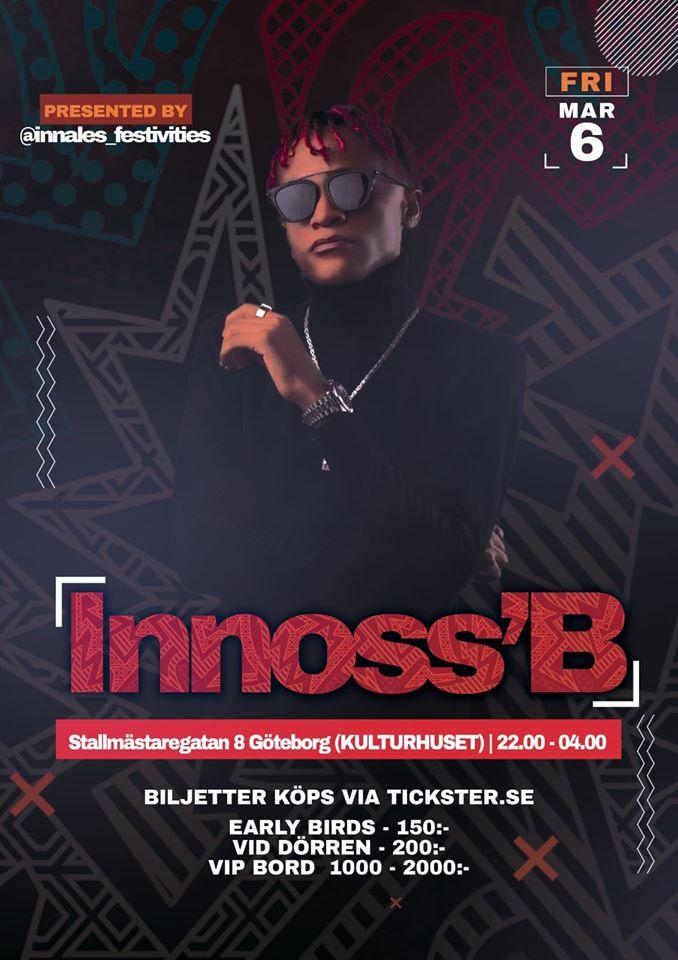 KONSERT: INNOSS'B Live Showcase & party - GÖTEBORG