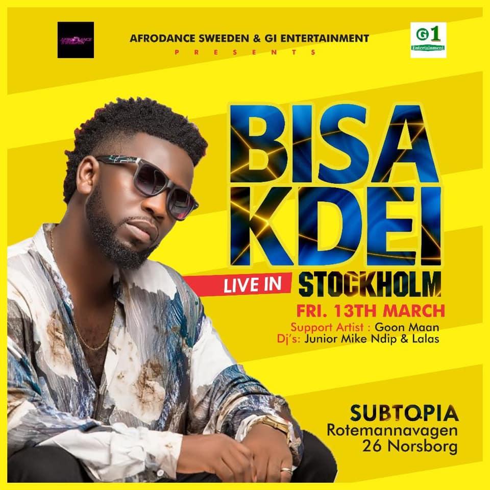 KONSERT: Bisa Kdei Live - STOCKHOLM