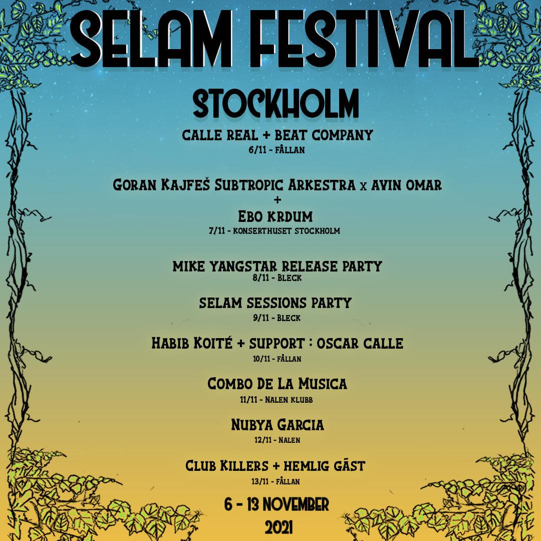 EVENEMANG! SELAM Festival (STOCKHOLM)