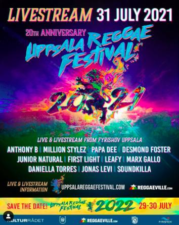 Livestream: Uppsala Reggaesfest firar 20års jubileum