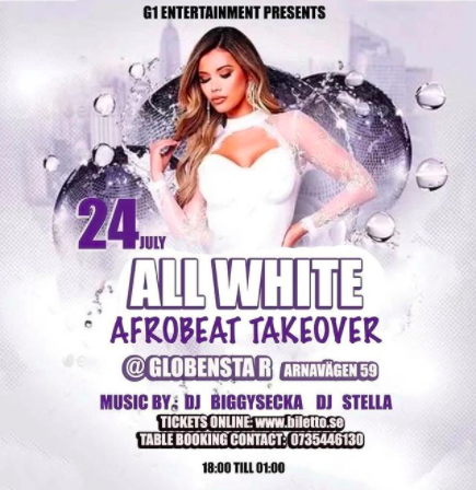 KLUBB! All White Afrobeats Party (STOCKHOLM)