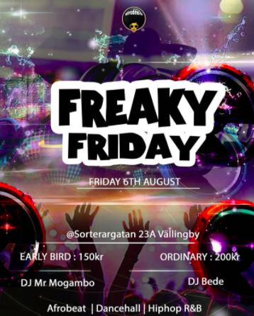 KLUBB! Afrodesire - Freaky Friday (STOCKHOLM)